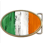 Irish Grunge Ireland Flag Belt Buckle. Code A0018